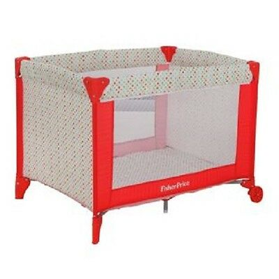 Fisher-Price Travel Cot - Red/White