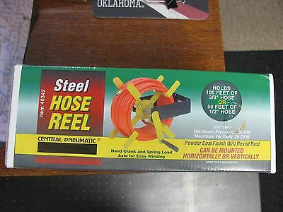 100 Ft. Open Side Steel Air Hose Reel NEW IN BOX - FREE FEDEX FROM USA!!!