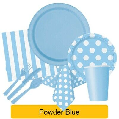 POWDER BLUE Party Tableware Disposable Birthday Supplies Event Decorations