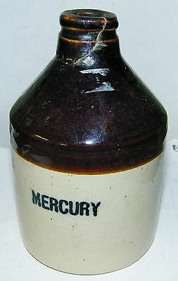 "vintage crock -5 1/2"" tall marked Mercury"