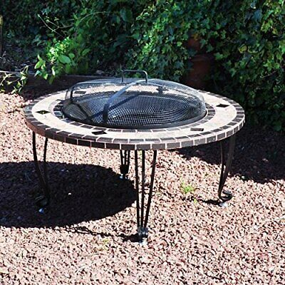 Garden Patio Firepit Heater Mosaic Outdoor Round Chimenea Bowl Fire Pit Bbq