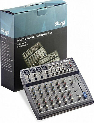 Stagg SMIX 4M4S UK Stereo Mixer w/ 2-4 mono & 2-4 stereo input channels