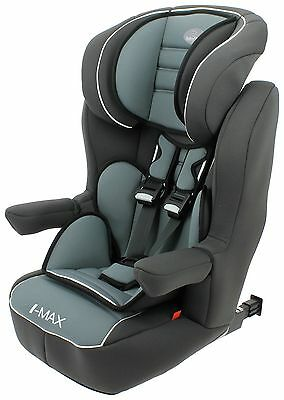 Babystart Imax ISOFIX Car Seat High Back 9m to 11 yrs Agora Storm FF