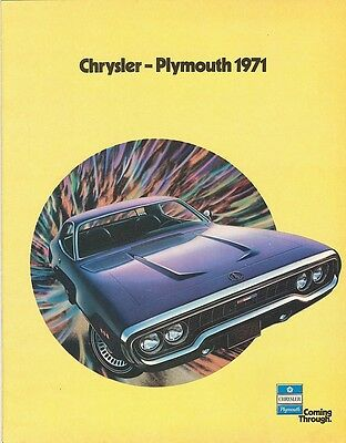 1971 Chrysler-Plymouth Sales Brochure Cuda/Duster/Road Runner