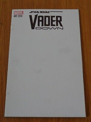 Star Wars Vader Down #1 Marvel Comics Blank Variant Nm (9.4)