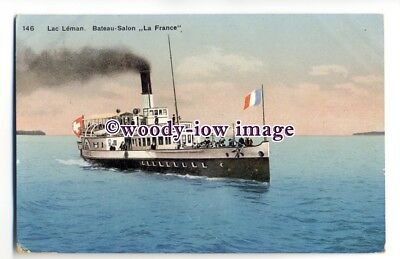 f1131 - French Paddle Steamer - France - postcard