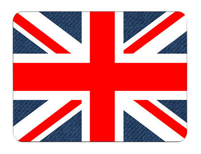 Silent Monsters Gaming & Office Mauspad 24 x 20 cm, Mousepad Design: Union Jack