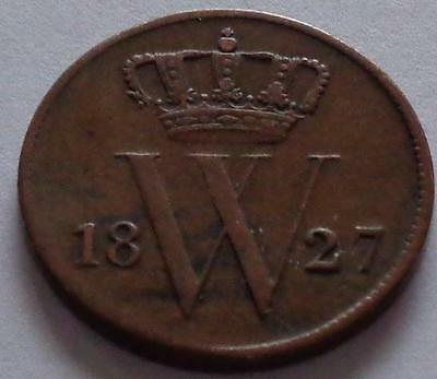 1827 B NETHERLANDS (1) One Cent (F1300)