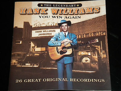 Hank Williams - You Win Again - The Legendary - CD Album - 26 Great Tracks