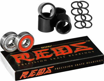 Bones Bearings Reds Bearings Including Spacers and Washers