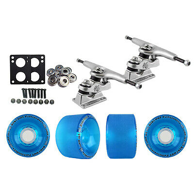 Gullwing Sidewinder Longboard Trucks Wheels Pack Bigfoot 70mm Pathfinders Blue