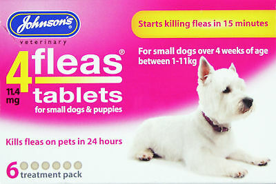 Johnsons 4fleas Small Dog Tabs - 6 Pack