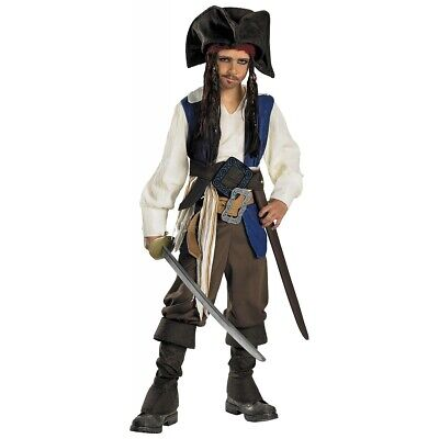 Captain Jack Sparrow Costume Kids Pirates of the Caribbean Halloween Fancy Dress