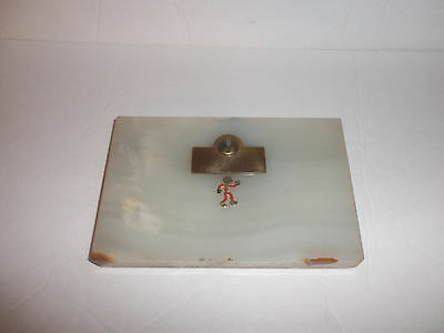 Vintage Electric Utilities Reddy Kilowatt Desk Pen Holder Marble Base As Is