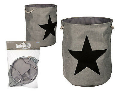 Quality Fabric Deluxe Laundry Hamper Basket Pop Up Washing Bin Fold-able Bag