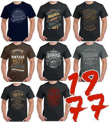 8 Designs For 1977 A Mens 42nd Birthday T Shirt 42 Year Old Gift Present