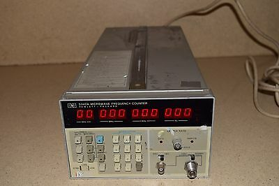 HP -HEWLETT PACKARD  AGILENT 5342A 18 GHz MICROWAVE FREQUENCY COUNTER