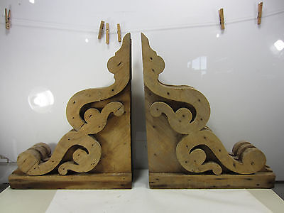 2 Antique Architectural Salvage Large House Corbels- Unpainted