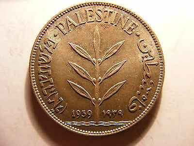 Palestine Silver 100 Mils, 1939, Uncirculated