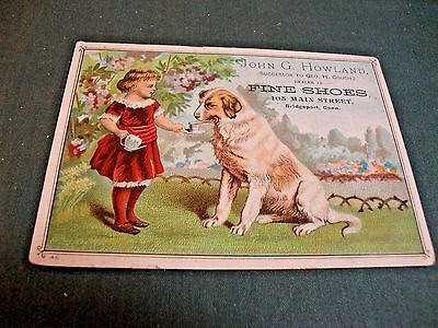 Victorian Trade Card For John G. Howland Fine Shoes