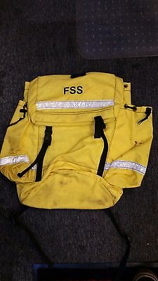FSS Yellow Firefighter Web Gear Main Pack, USFS, CDF, BLM, NPS, Wildland