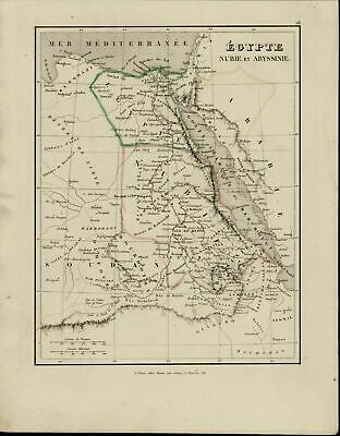 Egypt Nubia Abyssinia Sudan Red Sea Nile River Arabia nice 1838 scarce old map
