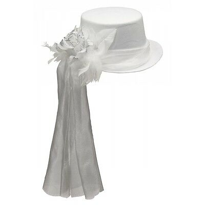 Ghostly Rose Top Hat Costume Accessory Adult Halloween