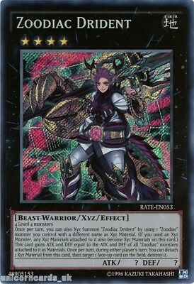 RATE-EN053 Zoodiac Drident Secret Rare UNL Edition Mint YuGiOh Card