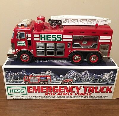 2005 Hess Emergency Truck with Rescue Vehicle Previously Displayed