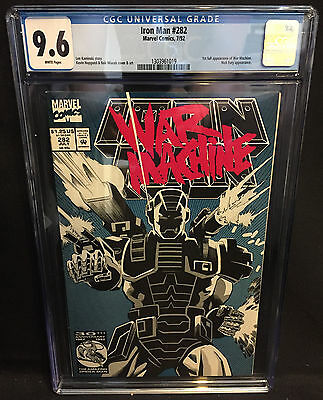 Iron Man #282 - 1st Full Appearance of War Machine - CGC Grade 9.6 - 1992