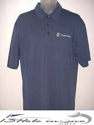 Nike Dri-Fit Men's Golf Shirt Short Sleeve Size L Blue Nice Polyester