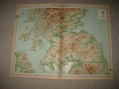 Set 2 Antique 1922 Northern Southern Scotland Times Atlas Map Orkney Islands Nr