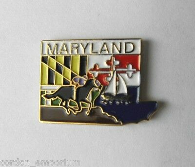 Us United States Maryland State Name Map Lapel Pin Badge 1 Inch