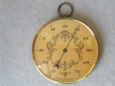 Vintage french gilded Brass THERMOMETER