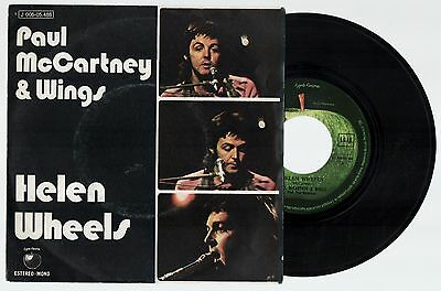 PAUL McCARTNEY & WINGS Helen Wheels / Country Dreamer 1973 Spain Single Beatles