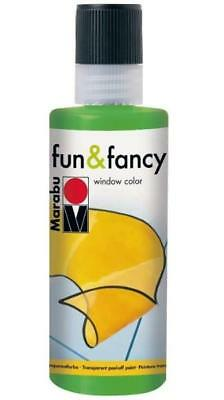 Marabu Window Color fun & fancy Fenstermalfarbe 80ml 062 HELLGRÜN abziehbar