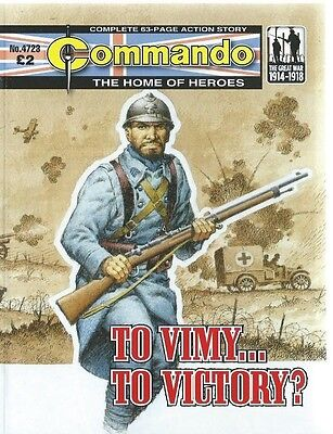 To Vimy To Victory,commando The Home Of Heroes,no.4723,war Comic,2014
