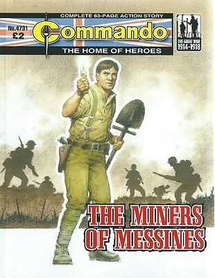The Miners Of Messines,commando The Home Of Heroes,no.4731,war Comic,2014