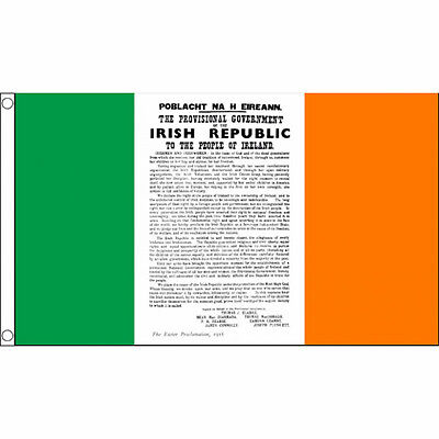Ireland 1916 Proclamation Flag - 5 x 3 FT - Irish Republican Rebel Easter Rising