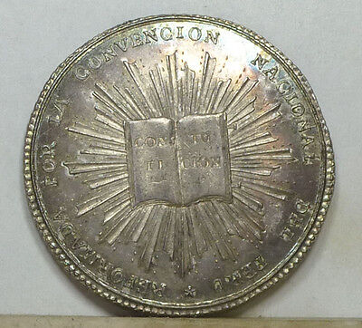 Peru 4 Reales Silver Proclamation Medal 1834 Choice Brilliant Uncirculated