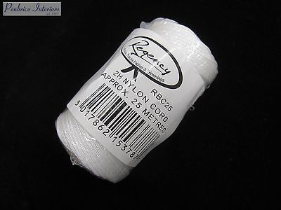25mts Reel Of 2H Regency Nylon Roman Blind Cord Strong 1mm Thin Blind Cord