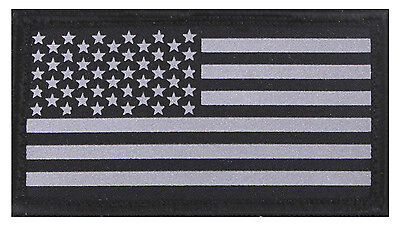 Reflective Flag Patch Police Airsoft Subdued US Flag Patch Reflective Hook Back
