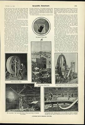 Death Defying Stunt Human Cannonball Daredevil 1905 vintage scientific print