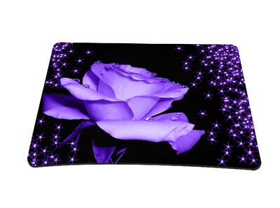 Silent Monsters Gaming & Office Mauspad 24 x 20 cm, Mousepad Design: purple rose