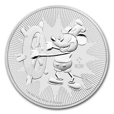 NIUE 2 Dollars Argent 1 Once  Mickey 2017 - 1 Oz silver coin Steamboat Willie