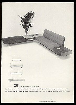 1960 Kipp Stewart modern sofa and table photo Directional Furniture vintage ad