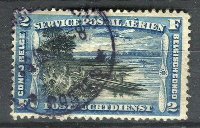 BELGIUM CONGO;  1920 early AIR issue fine used 2Fr. value