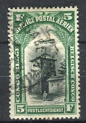 BELGIUM CONGO;  1920 early AIR issue fine used 5Fr. value
