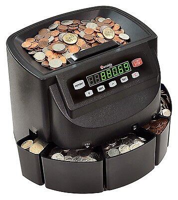 Cassida C200 Coin Sorter Counter and Roller Money Handling Change Sorting, NEW