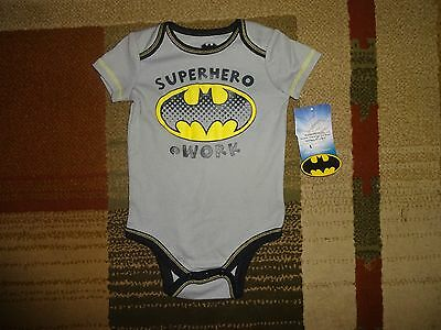 Batman Superhero Baby Infant Boy Cotton Blend Rompers Jumpsuit Bodysuit  6/9 M